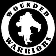 Wounded Warrior Vinyl Decal Car Truck Window Sticker Military Veterans Service