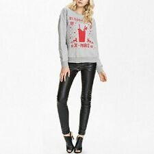 Fashion Women Lady Autumn Loose Casual Christmas Long Sleeve Cotton T-shirt Tops
