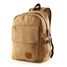 "Men's casual canvas backpack 14"" laptop schoolbag travelling knapsack tote bag"
