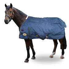 "NAVY HEAVY WEIGHT WATERPROOF REGULAR NECK HORSE TURNOUT RUG - SIZES 5.6"" - 7.0"""