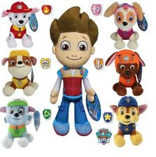 NEW OFFICIAL 20CM PAW PATROL PLUSH SOFT TOYS NICKELODEON CHASE/MARSHALL/EVEREST