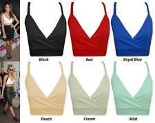 Womens Ladies Sexy Wrap Over Bra Bralet Top Ladies Strappy Crop Top Sz 8-14