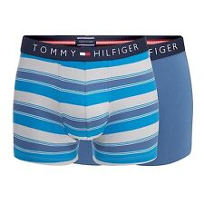 Tommy Hilfiger Mens Pack Of Two Blue Striped Hipster Trunks From Debenhams
