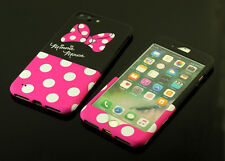 Cute Minnie Mouse Front + Back case cover Defender for Apple iPhone 6 6S 7 Plus