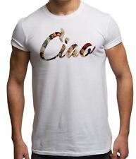 Ciao Italy Italian Vintage Poster Montage Pin Up Retro Slogan Mens T Shirt