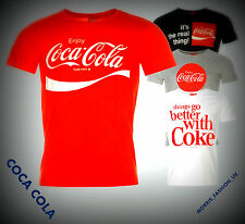Mens Branded Coca Cola Classic Large Printed Cola T Shirt Cotton Top Size S-XXL
