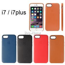 Ultra-Thin Genuine Leather Case Soft Cover For Apple iPhone7 / 7 Plus