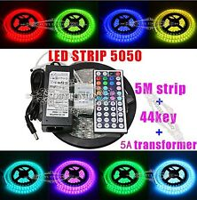 Wholesale 5M 5050 RGB SMD 300led light bar flexible infrared remote 5A+12V power
