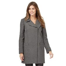 The Collection Womens Grey Textured Asymmetric Zip Coat With Wool From Debenhams