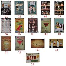 20cmx30cm Retro Metal Tin Sign Plaque Picture Sheet Home Pub Bar Wall Art Decor