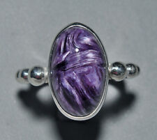 Charoite Cabochon Sterling Silver Handcrafted Ring