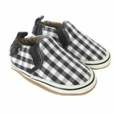 NIB ROBEEZ Shoes Liam Canvas Black & White Checkered 0-6m 6-12m 1 2 3 4