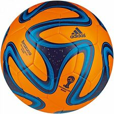 ADIDAS BRAZUCA GLIDER BALL FIFA WORLD CUP BRAZIL 2014 BALL SIZE 5 Orange/Blue.