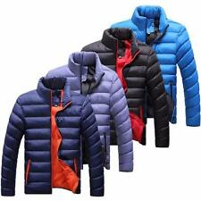 Fashion Men Winter Warm Jackets Solid Cotton Blend Coat Casual Outwear M-4XL