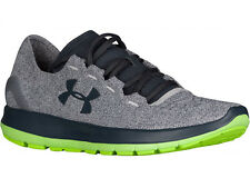 NEW MENS UNDER ARMOUR SLINGRIDE RUNNING SHOES TRAINERS GLACIER GREY / HYPER GREE