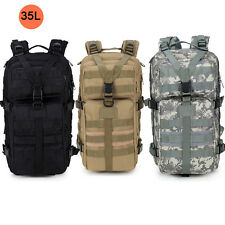 35L Hiking Camping Bag Army Military Tactical Trekking Rucksack Backpack Camo