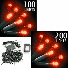 Frosted LED String Christmas Xmas Tree Lights Flash Festive Window Decoration