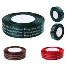 25yards Craft Satin Ribbon 26mm Width Merry Christmas Ribbon Gift Wrapping