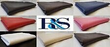 NEW FAUX LEATHER SOFT FEEL HEAVY DUTY UPHOLSTERY FABRIC MATERIAL 1 METER X 140CM