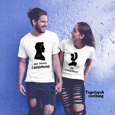 Her Prince Charming His Cinderella Fantansy Funny Slogan Couple Matching T shirt