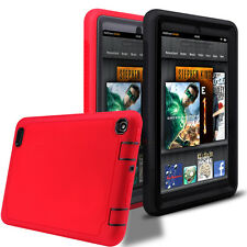 Red Shock Proof Silicone Case Cover for Amazon Kindle Fire 7 inch 5th Gen 2015