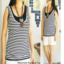 COMFY Maternity Clothing Breastfeeding Top Nursing Tops Pregnancy Tank Singlet