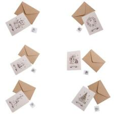 Set of 30pcs Retro Christmas Greeting Card with Painted Envelopes Wishing Cards