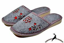 Ladies Fleece Indoor Slippers Handmade Womens Shoes Lined Winter Warm All Size S