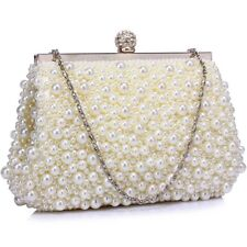 Vintage Beads Pearls Crystals Evening Clutch Bag