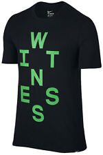 NIKE MENS LEBRON LBJ WITNESS BLACK GREEN BASKETBALL SHIRT 806562 010 LARGE