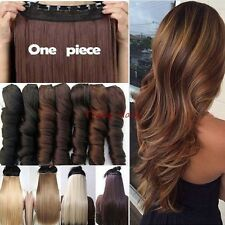 One Piece Real Clip In Hair Extension Full Head As Human Hair 100% Thick  H830