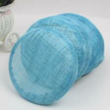 15cm Round Sinamay Hat Fascinator Base Millinery Making Craft Derby Accessories