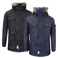 Mens Winter Coat by dStruct 'Taschen' Fur Hooded Padded Jacket Sizes S-XL