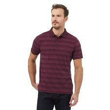 Rjr.John Rocha Mens Purple Stripe Polo Shirt From Debenhams