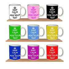 Keep Calm And Carry On Personalised Coffee Tea Cup Mug Gift Present