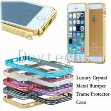 Fashion Luxury Crystal Metal Bumper Frame Protect Case for Apple iPhone 5 5S SE