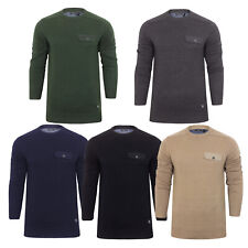 Mens Jumper Brave Soul Persian Cotton Crew Neck Sweater
