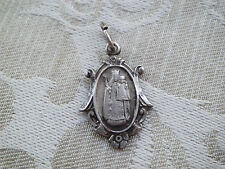 Vintage STERLING Our Lady of Consolation Carey OH Religious Medal Pendant Charm