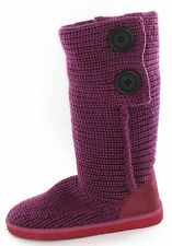 SALE Girls Dusty Pink Knitted Textile Pull On Winter Boots. Spot On H4021