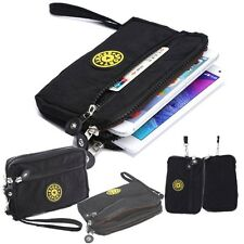 Multi-function Wallet Phone Wrist Bag 3 Layers Zipper Cash Cosmetic Purse Case