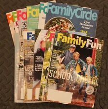 Lot of (12) Family Circle / Family Fun Magazines
