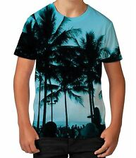 Beach Palm Trees Tropical Tree Summer Holiday Boys Kids Child T Shirt Ages 3-12