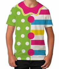 Clown Costume #2 Funny Easy Costume Halloween Boys Kids Child T Shirt Ages 3-12