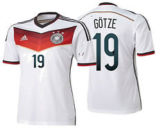 ADIDAS MARIO GOTZE GERMANY AUTHENTIC ADIZERO HOME JERSEY FIFA WORLD CUP 2014