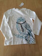 NWT Gymboree Boys Tee Shirt Top Long Sleeve Embroidered Owl SZ 6,7