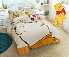 *** Big Winnie the Pooh Single Bed Quilt Cover Set - Flat or Fitted Sheet ***