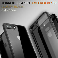 WORLD's THINNEST Bumper for iPhone 7 & 7 PLUS Case + FREE GLASS Screen Protector