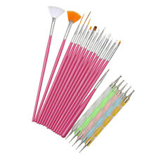 20 pcs Nail Art Design Brushes Set Dotting Painting Drawing Polish Pen Tools Kit