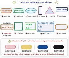 Custom Uniform SEW on Embroidered Baby Name Tag Patchs Lot 20pcs DZ1801SM