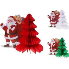 Honeycomb Balls Tissue Paper Vintage Christmas Tree Santa Claus Decorations